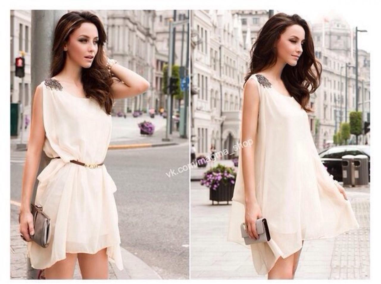Легкое простое платье